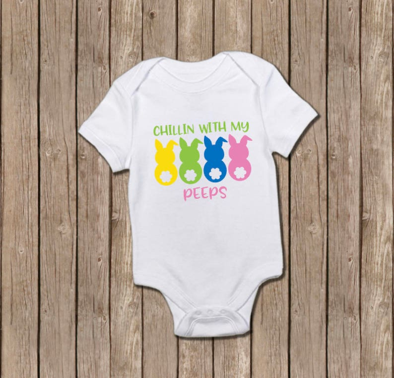 Hanging With My Peeps Onesie Baby Shower Gift Baby Girl Baby Etsy