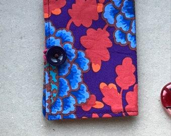 Whimsical owls Tea Bag envelope  ~ happy birthday friend ~ Tea bag organizer ~  fabric wallet  ~ Mindfulness gift ~ Loyalty card holder
