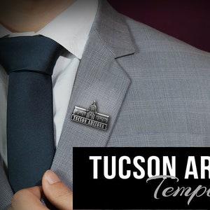 Tucson Arizona Temple pin silver or gold finish Tie Bar