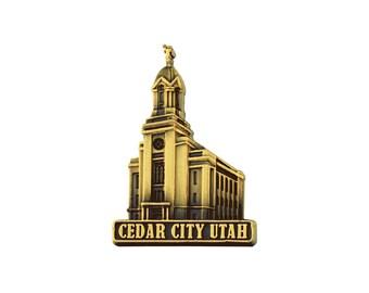 Cedar City Utah Gold Pin