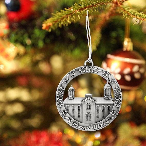 Christmas Ornaments Vernal Temple LDS Temple Christmas Ornament Temple Gift Idea Personalized Wood Christmas Ornament