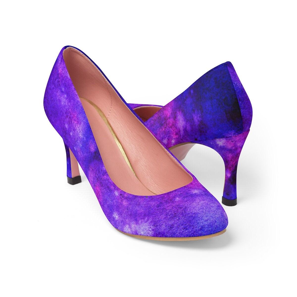 Talons hauts galaxie motif motif motif femmes, galaxie Unique et élégant imprimé chaussures à talons hauts, chaussures à talons hauts semelle rose 3d44e9