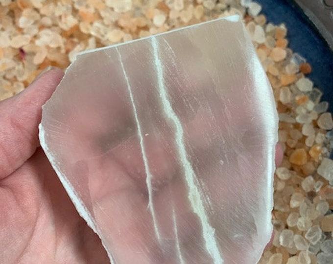 Selenite Charging Plate, Slab, Crystal cleansing, Charging