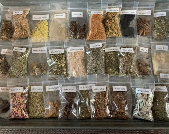 Herb Set, Wildcrafted, Incense, Ritual, Spells, Wicca, Natural Herbs, 5-50 sets