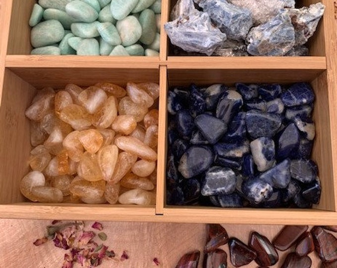Creativity Crystal Kit, Kyanite, Amazonite, Red Tiger Eye, Sodalite, Citrine