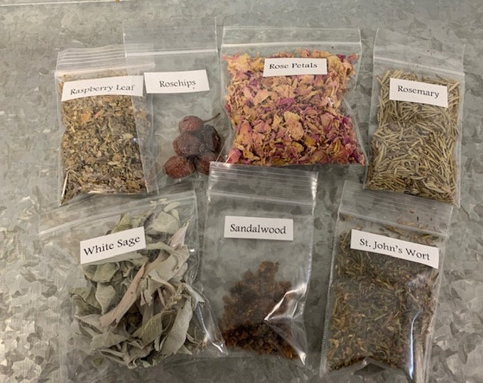 Herb Set #2, Tracked Shipping, Wildcrafted, Ritual, Tea, Bath, Spells, Wicca,, 5-50 sets