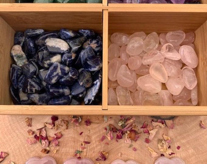 Gratitude Crystal Kit, Amethyst, Aventurine, Rose Quartz, Heart, Sodalite