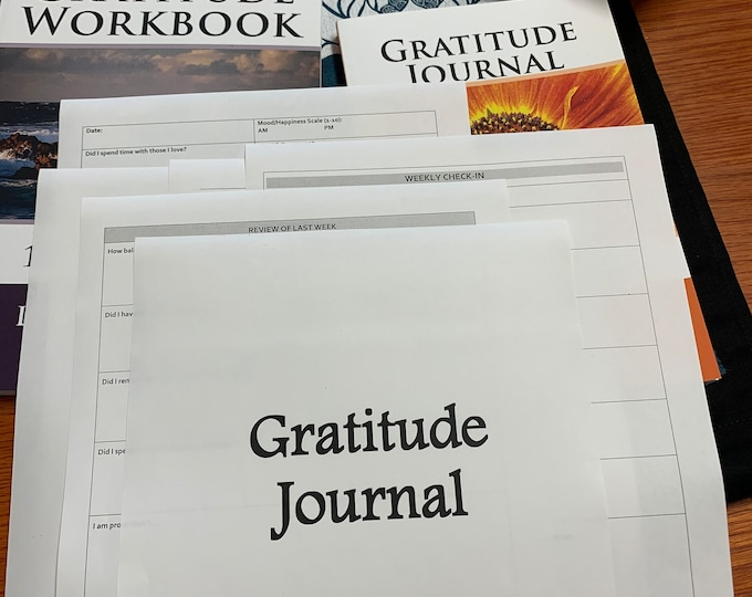 Gratitude Journal, Guided, PDF, Download, Printable, Letter, A4, A5