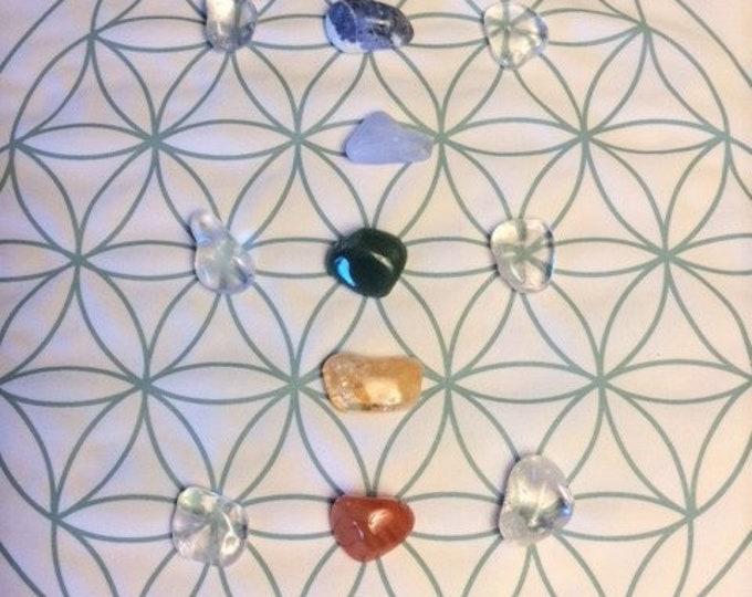 Chakra Crystal Grid, 13 Crystals
