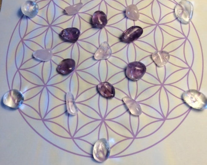Love Crystal Grid, 19 Crystals