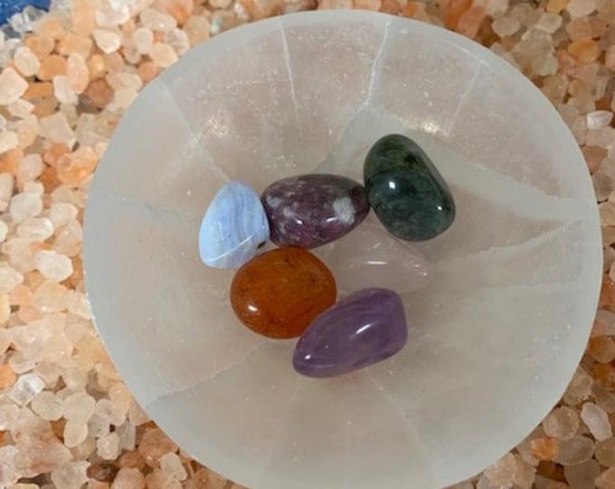 Selenite Charging Bowl, Crystal cleansing, Charging
