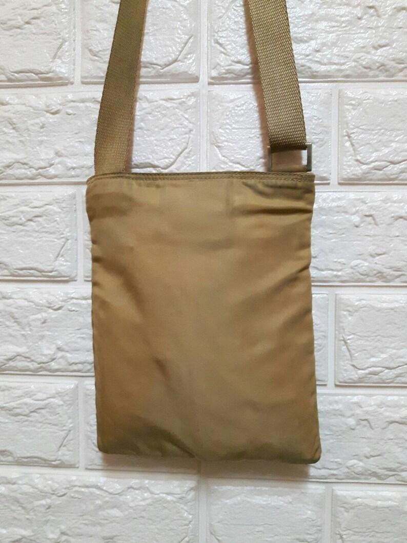 c99a5fa85db1 Authentic Prada Milano Sling Bag Opti Zipper.. | Etsy