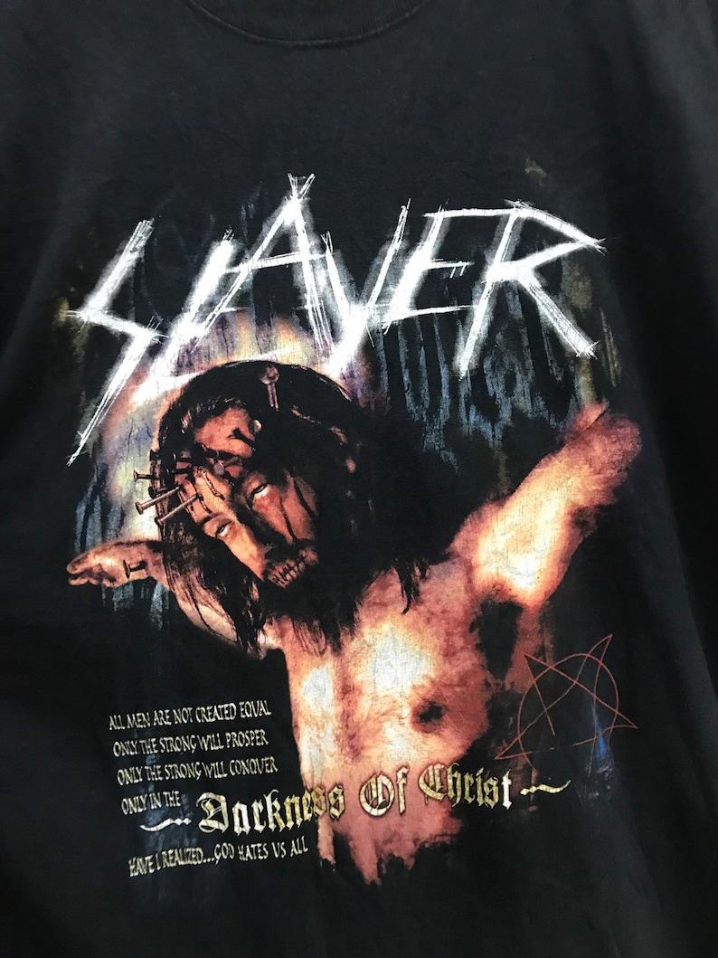 Vintage Slayer Darkness Of Christ God Hates Us Tour..American Thrash Metal band.Size XL.