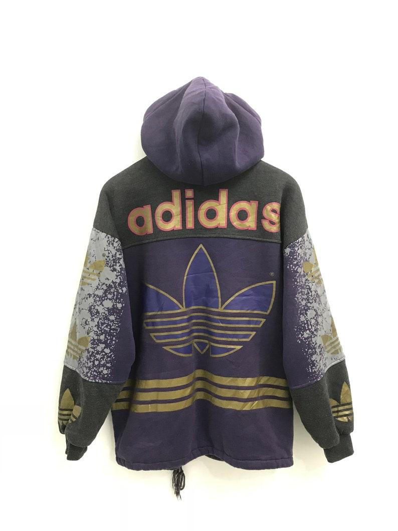 Big Adidas Jackethip spellout 90s Vintage Logo Hop Hoodie RLq5j34A