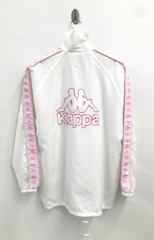 2883090888 RARE Vintage Kappa Big Logo Windbreaker Jacket pink | Etsy