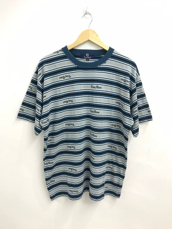Vintage 90s Troy Bros Striped Streetwear Japanese
