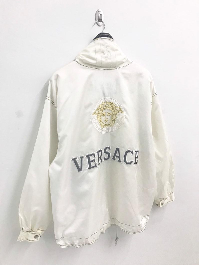 cefbce25 Rare Vintage Versace Jeans Couture Big Logo Spellout Medusa   Etsy