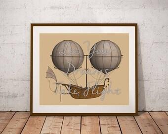 Let Your Dreams Take Flight Printable Art Print