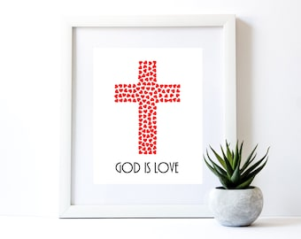 God Is Love Printable Art Print