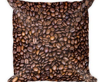 Coffee Beans - Square Pillow
