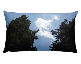 Sky & two trees - Rectangular Pillow