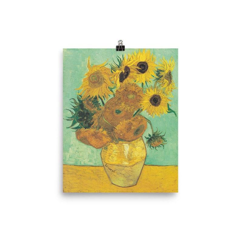 Vincent Van Gogh Stillleben Vase Mit Zwölf Sonnenblumen Etsy