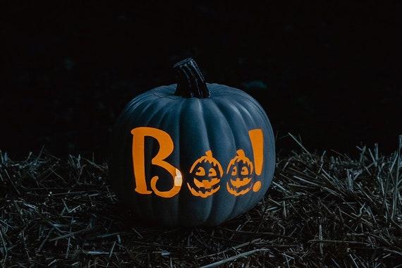 Boo Pumpkin Carving Etsy