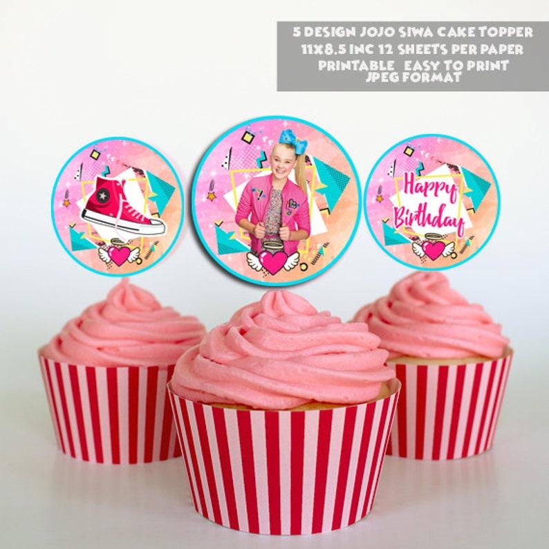 Instant download- jojo siwa cupcake topper, jojo siwa, jojo siwa party,  jojo siwa party favors, jojo siwa birthday, jojo siwa party decor