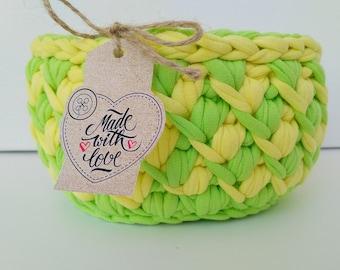 """Crocheted basket """"Lemonade mix"""""""