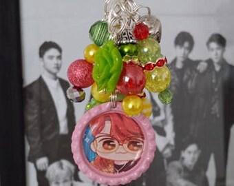 EXO KoKoBop Candy Keychain Charm Baekhyun FANART