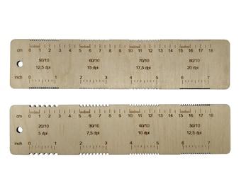 Weaving ruler