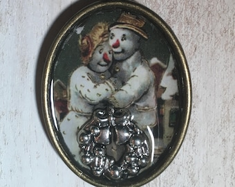 Sweet Snowman Couple!