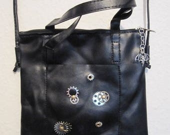"""Leather bag """"Timeless Ladies Bag"""" with bat pendant"""