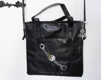 """Leather bag """"timeless gear bag"""" with bat Pendant"""