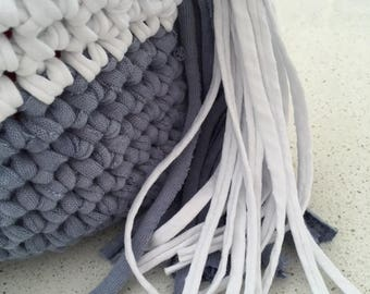 Handmade Tote Bag, Casual, Crocheted Funky Handbag