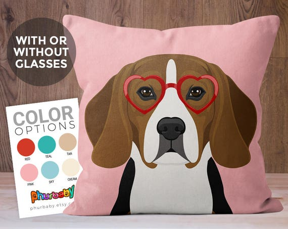 Beagle Pillow Dog Lover Gift Fiance Gift Throw Pillow Etsy