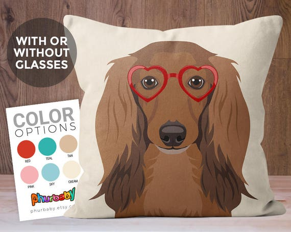 Long Haired Dachshund Pillow Pet Pillows Dog Gift Cute Etsy