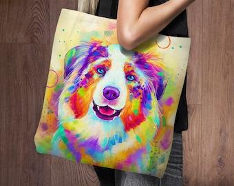 Australian Shepherd Tote Bag | Aussie | Project Bag | Weekender Bag | Tote Bag Canvas | Shoulder Bag | Gym Bag | Shopping Bag | Market Tote
