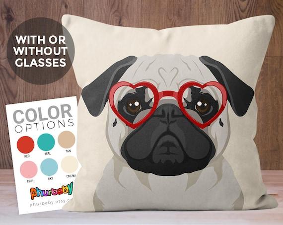 Pug Pillow Stuffed Dog Pillow Girlfriend Gift Pet Pillow Etsy