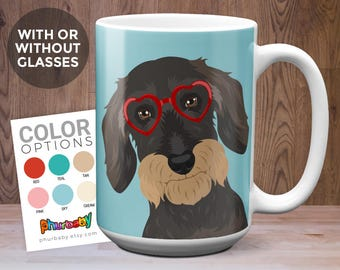 Wire Haired Dachshund Mug | Boyfriend Gift | Girlfriend Gift | Pet Mug | Dog Memorial | Dog Owner Gift | Gifts Under 20 | Dog Gift | Dog Mug