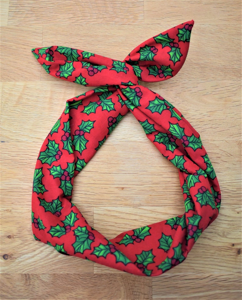 3fabb6375 Christmas wire hairband accessory holly berry headband red