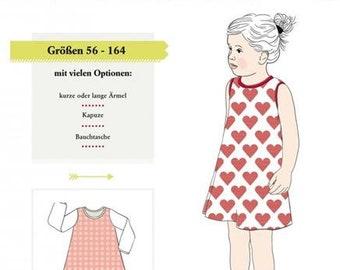 bb7f2834427 193 Papierschnittmuster Farbenmix Kinder Klimperklein Mädchen Trägerkleid