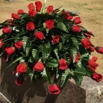 Cemetery Flowers Headstone Saddle for Memorial Day Personalized Arrangement for Dad Gift for Mom Decorations for Graves  Tombstone Topper