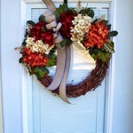 Fall Wreaths for front Door, Autumn Wreath, Fall Door Wreaths, Wreathes, Grapevine Wreath, Decorations, Housewarming Gift, New Home Gifts