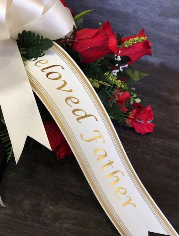 printed personalised  ribbon and sashes