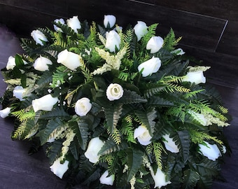 Cemetery Flowers, Headstone Saddle, Cemetery Saddle, Grave Flowers, Headstone Flowers, Grave Decoration, Flowers for Grave, for cemeteries