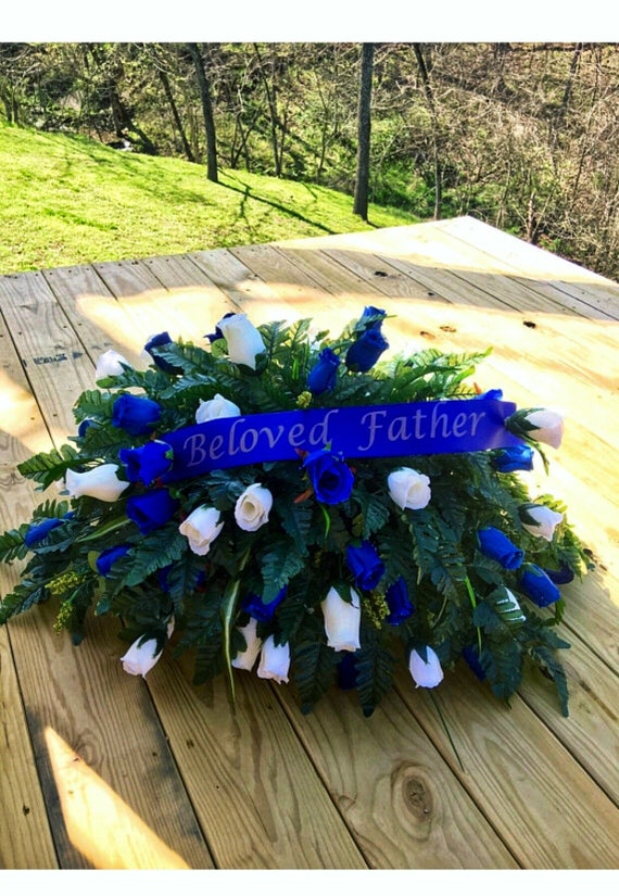 Cemetery Flowers Headstone Saddle Grave Saddle Cemetery Etsy