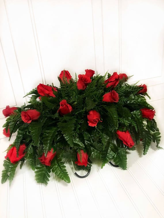 christmas headstone saddle cemetery flowers grave decorations cemetery arrangement flowers headstone flowers grave decor for cemetery