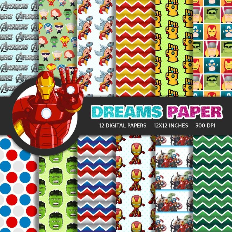 04fa528d92d5 The Avengers Iron Man Thor Hulk Thanos Heroes Digital