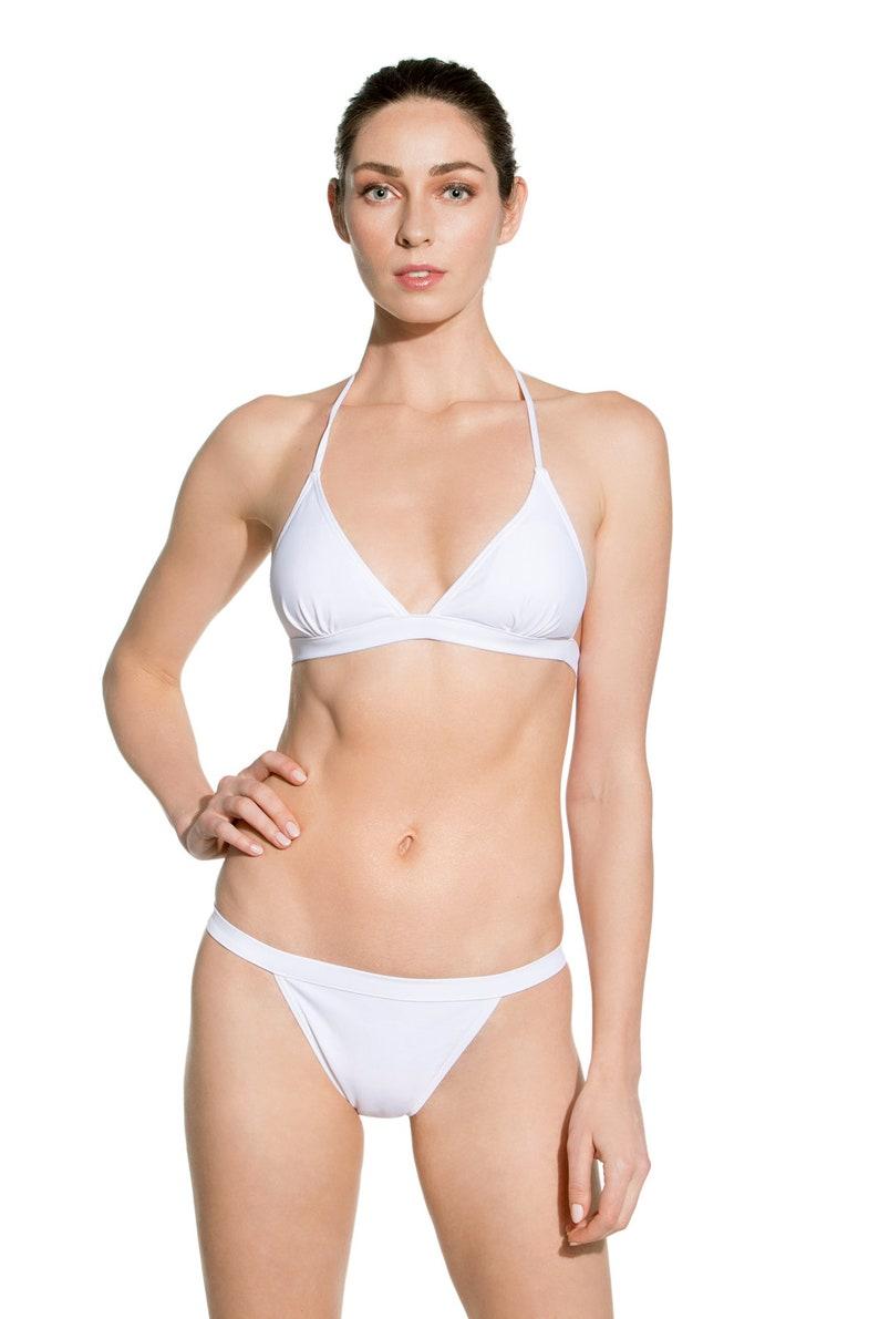 7cc842e84b11 White Bikini Women White Bathing Suit White Swimsuit White | Etsy